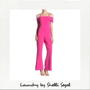 Laundry By Shelli Segal Cold Shoulder Jumpsuit NWT